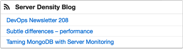 RSS monitoring widget